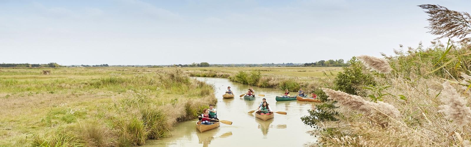canoe vendee marais